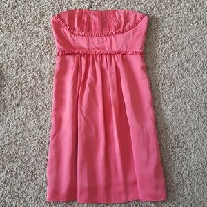 BCBG Pink Strapless Dress